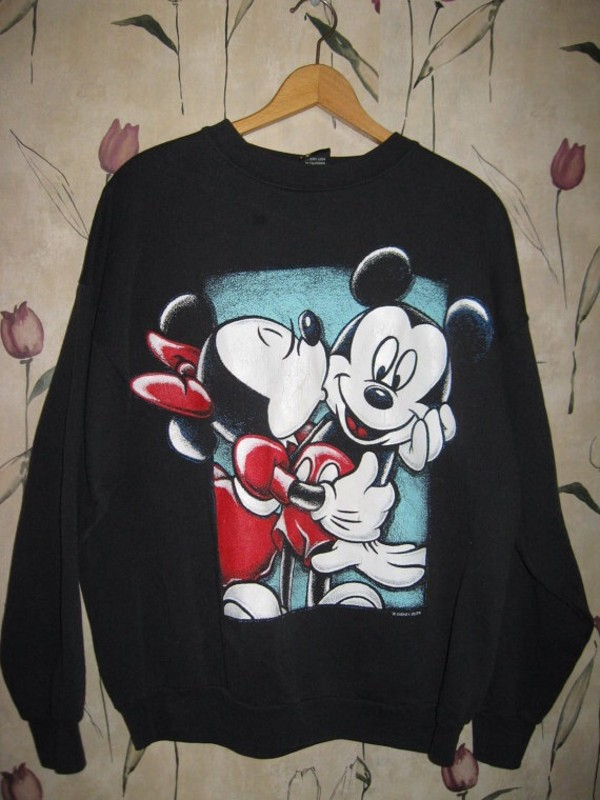 shirt mickey mouse minnie mouse sweatshirt