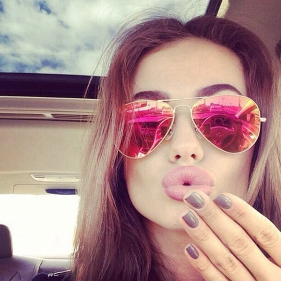 sunglasses fashion rayban hot glasses hipster pink style dress cute dress outfits peace sign summer outfits