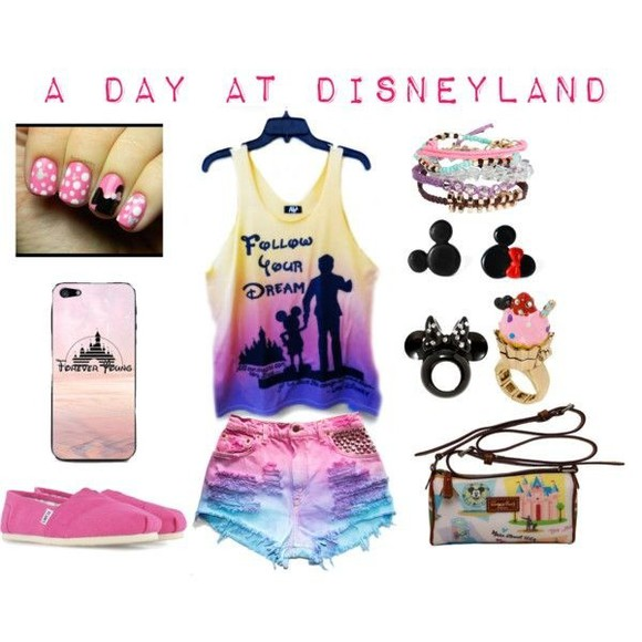 mickey mouse minnie mouse disney tank top pink cute outfits
