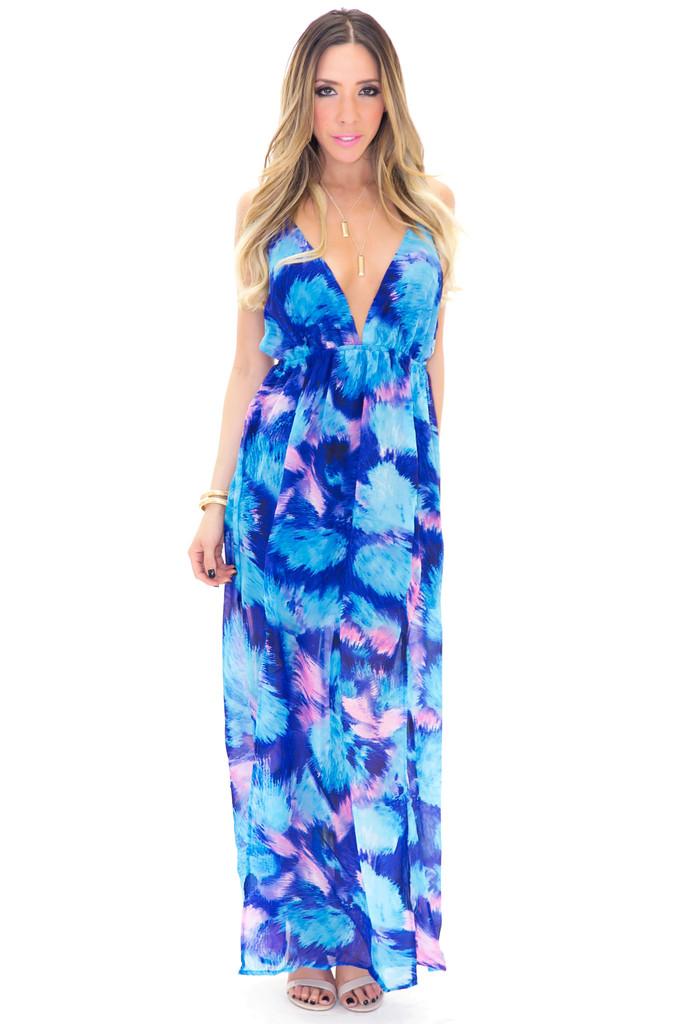 Aquamarine maxi dress | haute & rebellious