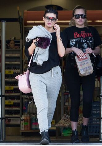 top t-shirt kylie jenner sweatshirt sweatpants sneakers kardashians sweater shoes the beatles puma