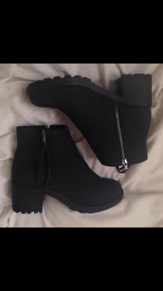 shoes zipper platform shoes