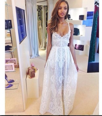 dress white lace formal long white dress white formal formal dress prom dress prom formal wear formal attire strap dress style white long dress long dress