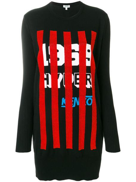 Kenzo dress knitted dress women cotton print black