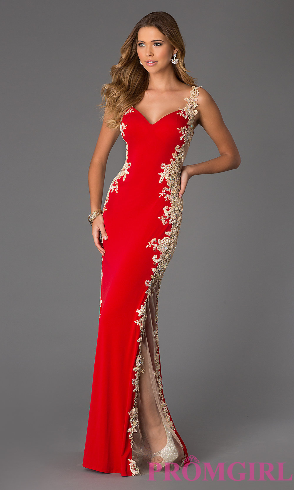 Sheer Back Lace Prom Gown from JVN by Jovani