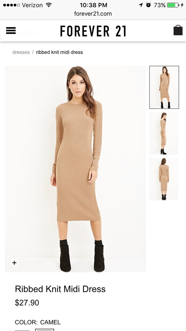 Long Sleeve Bodycon Dress Forever 21