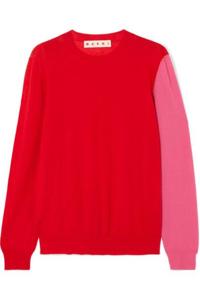 MARNI sweater red