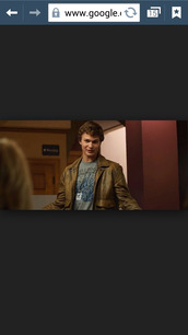 jacket,brown leather jacket,the fault in our stars,augustus waters,ansel elgort