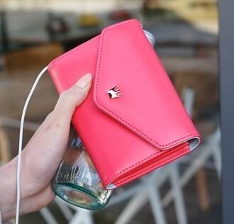 bag wallet case crown cute hair girl pink cheap stylish fab swag phone iphone