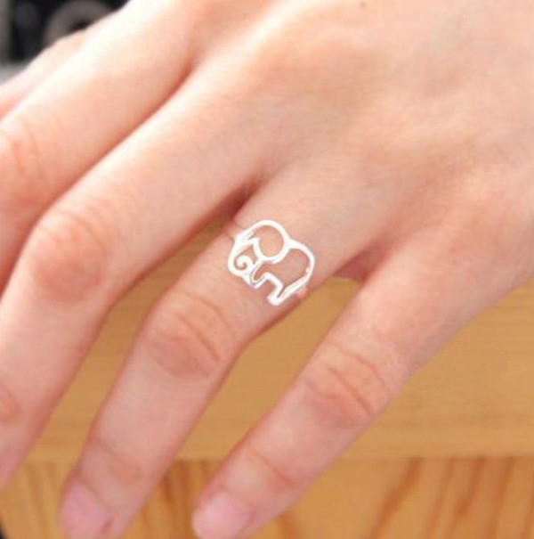 jewels ring elephant silver gold jewelry
