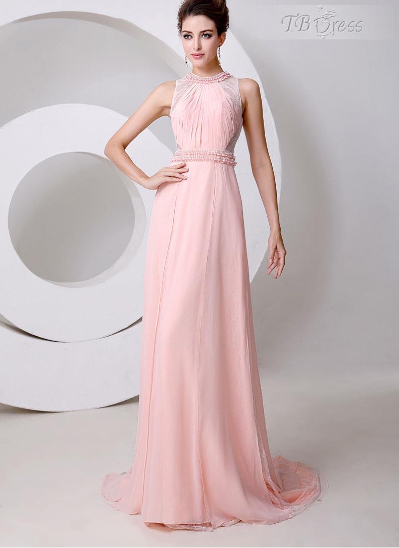 Und ziemlich empfindlich mit den New Style Graceful Jewel Neck Perlen A-Line bodenlangen Abendkleid: Tbdress.com