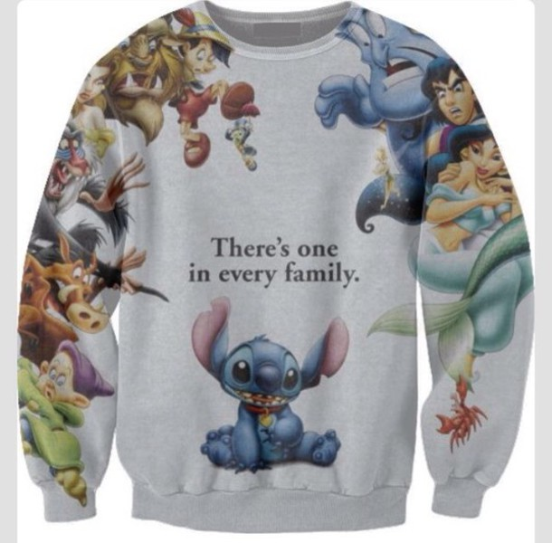 sweater disney lilo and stitch colorful childish stitch jumper