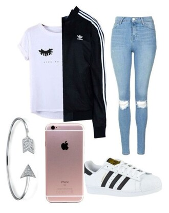 jacket adidas jacket black bomber jacket ripped jeans iphone 6 case