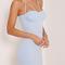 Blue strappy contour cups bodycon mini dress