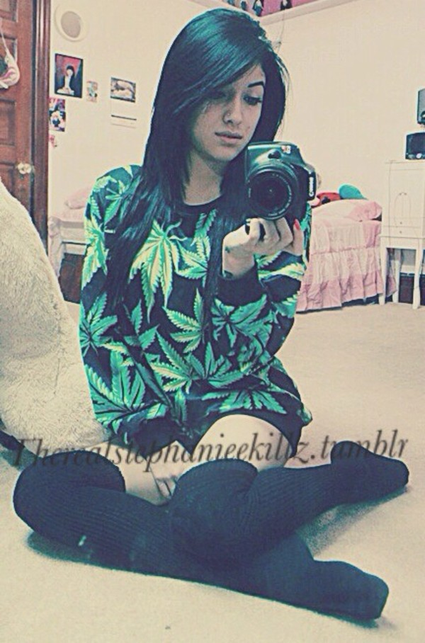 sweater marijuana pot leaf shirt weed marijuana marijuana long sleeves pullover