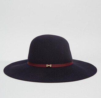 hat navy floppy hat fall outfits back to school