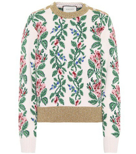 gucci sweater wool sweater jacquard wool