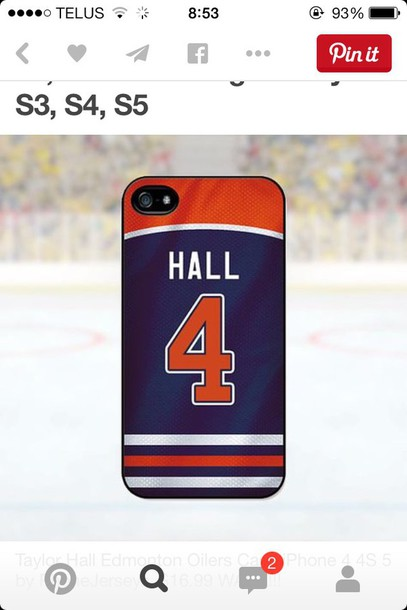home accessory hall hockey jersey phone cover