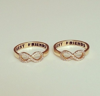 jewels bff best friends infinity ring infinity gold silver ring diamonds