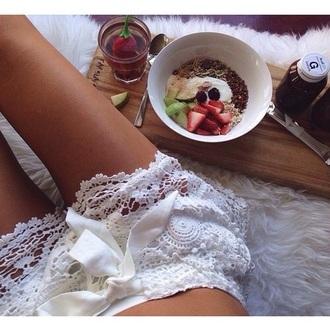 shorts white lace shorts pjama shorts summer shorts crochet shorts