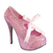 Pink glitter pinup rockabilly pleaser bordello teeze 10g shoes pinup burlesque | ebay
