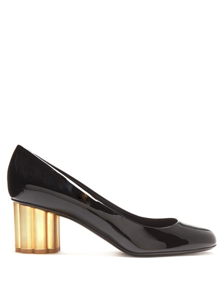 Salvatore Ferragamo heel pumps leather black shoes