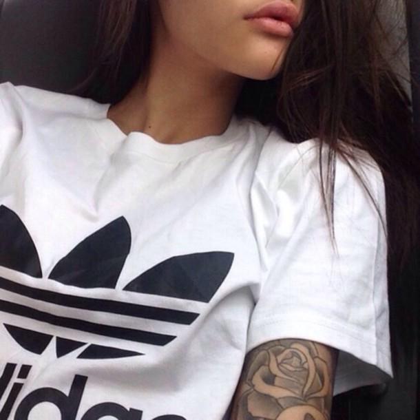 shirt adidas cool pale white t-shirt