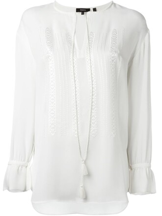 blouse tunic white top