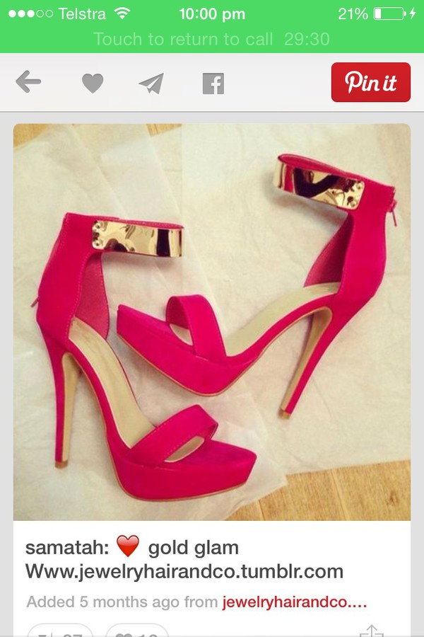 shoes pinkish heels