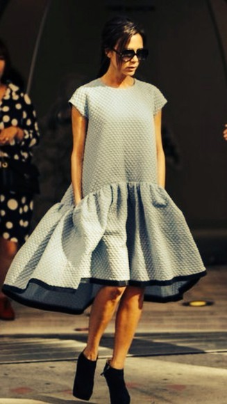 dress victoria beckham quilted skirt