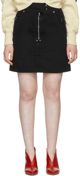 Isabel Marant Black Natalia Chic Denim Miniskirt