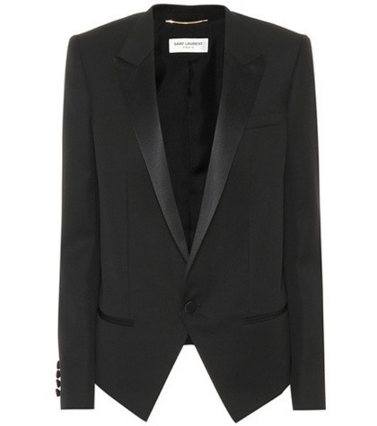 Saint Laurent Virgin wool blazer in black
