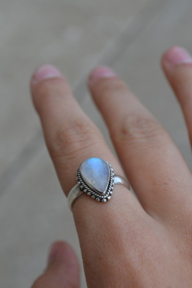 jewels ring pale blue lilac