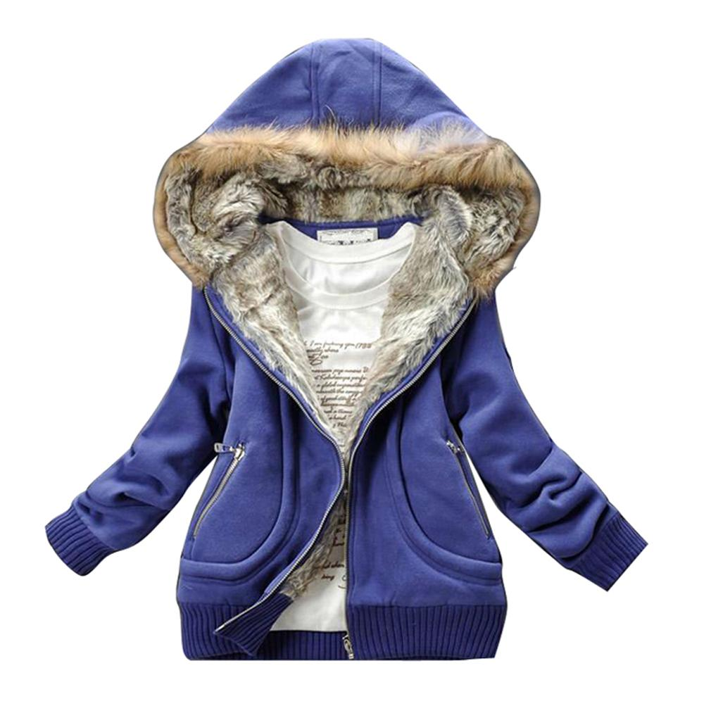 fur collar hooded sweater winter women's hoodies Jacket coat outwear keep warm cotton padded thickening size:M,L,2xl-inHoodies & Sweatshirts from Apparel & Accessories on Aliexpress.com