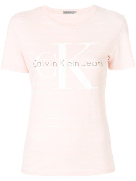 Calvin Klein Jeans t-shirt shirt t-shirt women nude cotton top