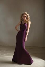dress,evening dress,long dress,purple dress,prom dress