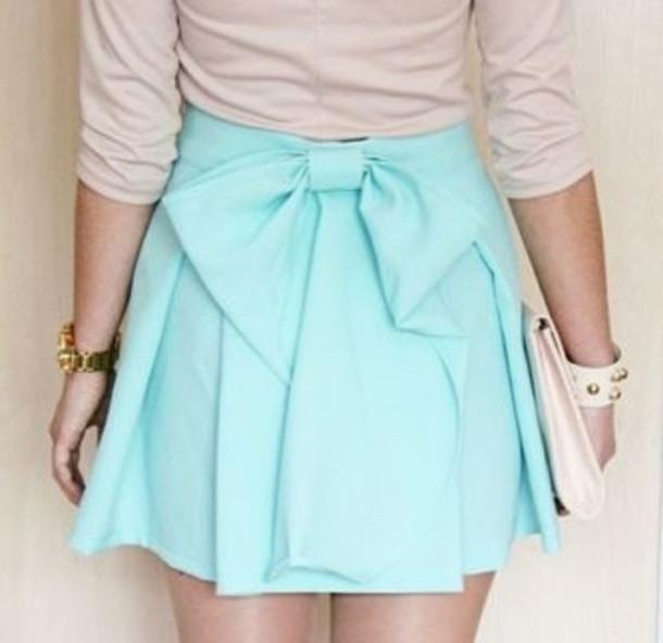 skirt pastel light blue mini skirt wheretoget