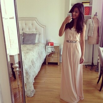 dress rosy pink dress maxi dress blush blush dress instagram instagram dress selfie pretty pink dress