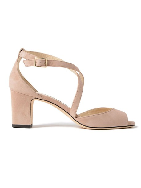 Jimmy Choo suede ballet pink shoes