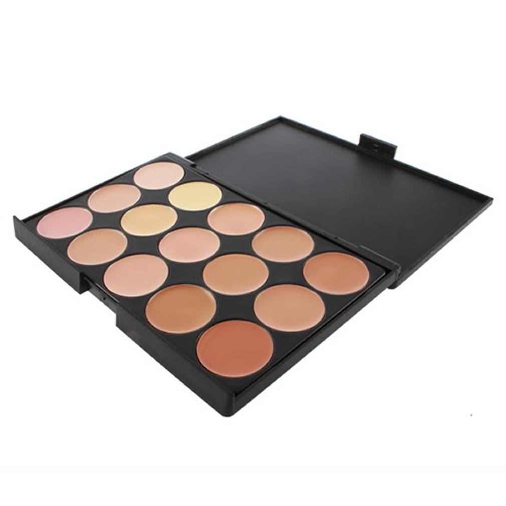 15 Color Neutral Makeup Eyeshadow Camouflage Facial Concealer Palette He | eBay