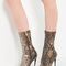 Akira faux snakeskin zip up pointed toe high stiletto booties in bronze snake, green snake