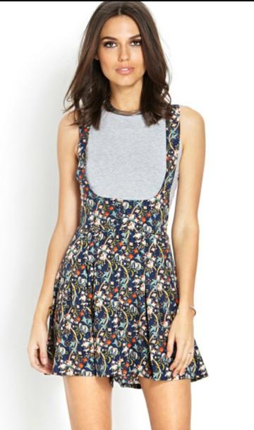 shirt overalls dress skirt skater dress skater skirt floral dress floral skirt black floral