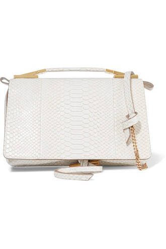 python bag shoulder bag leather