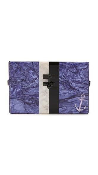 anchor purse blue violet bag