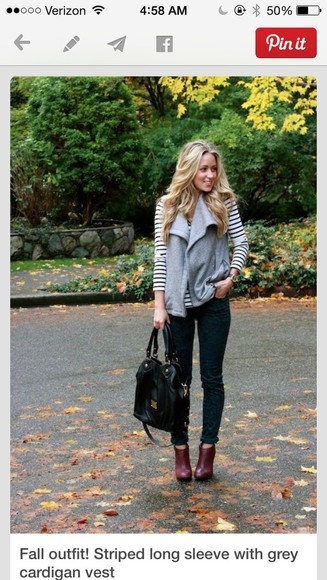 stripes cardigan fall outfits