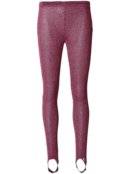 A.F.VANDEVORST leggings glitter women purple pink pants