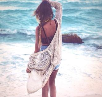 jacket coat beach free lovely cute kimono kimono jacket crochet bralette jumper cardigan nude wool knitted cardigan