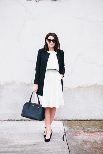 kendi everyday blogger classy white skirt black and white