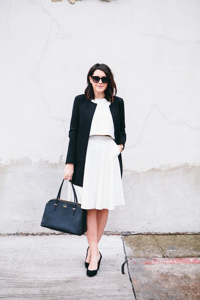 kendi everyday blogger classy white skirt black and white