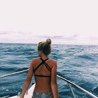 swimwear bikini black straps